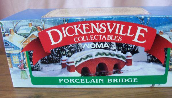 "Collectibles Christmas Village Accessories Noma Dickensville 1995 Porcelain 8 1/2"" L Bridge"
