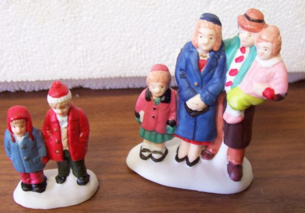 Collectibles Christmas Village Figurines/Accessories 3 Sets for Christmas Village