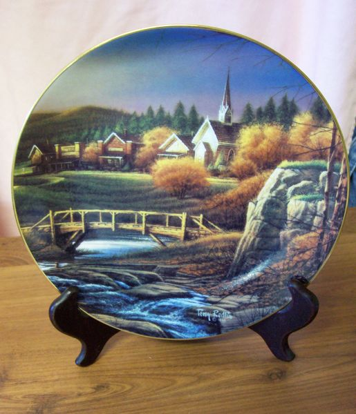 DECORATIVE PLATE Ltd Edition Terry Redlin Heartland Collection Celebration of Faith