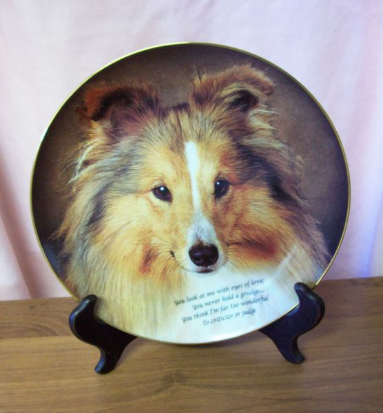 "DECORATIVE PLATE Limited Edition Danburry Mint 8"" Plate Eyes of Love - SHELTY"