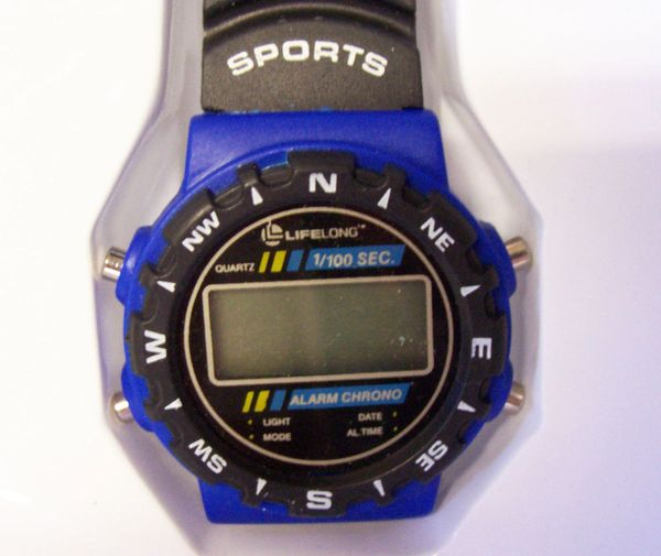 SPORT'S WATCH: Mens Multi-Alarm Wrist Watch Lifelong CHRONO WRIST WATCH (A-1)