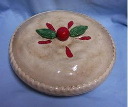 PIE PLATE & COVER Ceramic Apple Dish Realistic Pie Crust The Great American Pie