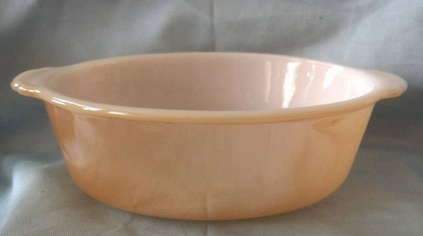 CASSEROLE DISH Vintage Anchor Hocking Fire King Lusterware 1.5 qt. Copper Tint