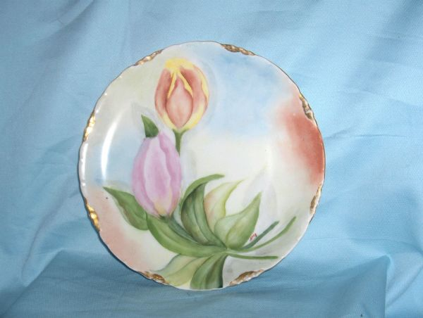 DECORATIVE CHINA PLATE Vintage Elegant ROSENTHAL Hand Painted Tulips