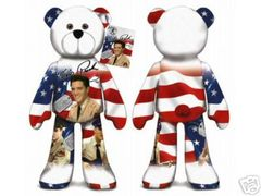 ELVIS PRESLEY BEAR #01 Collectible Elvis Plush Bear - GI BLUES