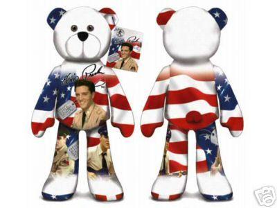 ELVIS PRESLEY BEAR #01 Collectible Elvis Plush Bear - GI BLUES