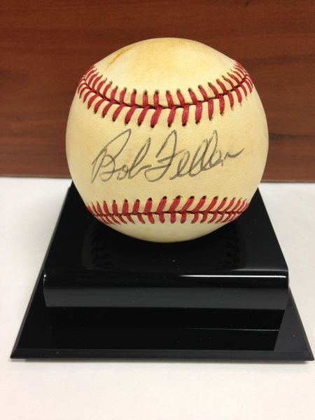 ***BOB FELLER*** Signed and Certified by GA (Global Authentics) Official American League Baseball - Certification # GV529828