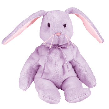 FLOPPITY the BUNNY (Purple) Beanie Baby - Ty