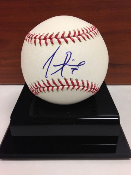 ***JUAN PIERRE*** Signed and Certified by GA (Global Authentics) Official Major League Baseball - Certification # GV511995
