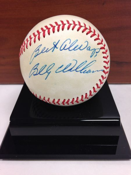 ***BILLY WILLIAMS*** Signed and Certified by GA (Global Authentics) Official American League Baseball - Certification # GV483737