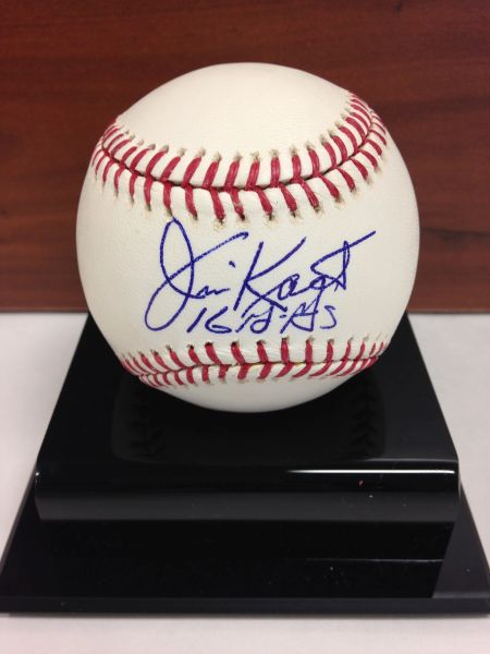 ***JIM KAAT*** Signed and Certified by GA (Global Authentics) Official Major League Baseball - Certification # GV554228