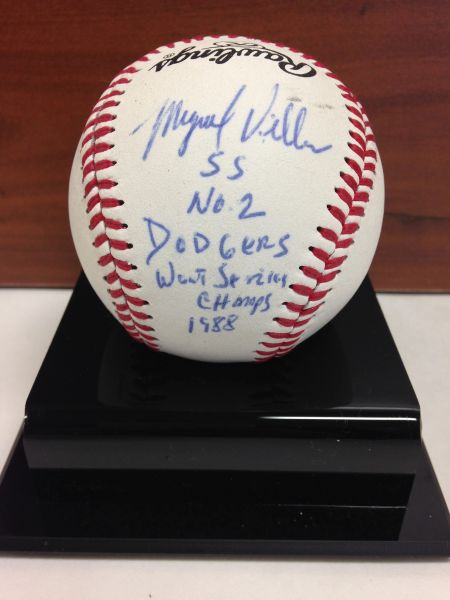 ***MIGUEL VILLA*** Signed and Certified by GA (Global Authentics) Official Little League Baseball Certification # GV342822