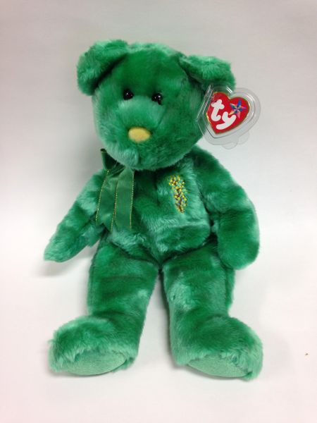 "Beanie Buddy *WATTLIE* the Green Bear 14"" - Ty"