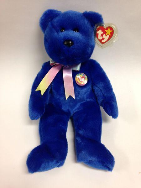 """Beanie Buddy *CLUBBY* the Blue Bear 14"""" - Ty"""