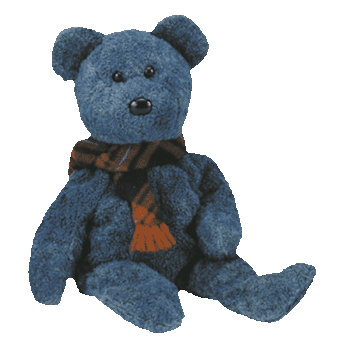 WALLACE the BEAR Beanie Baby - Ty