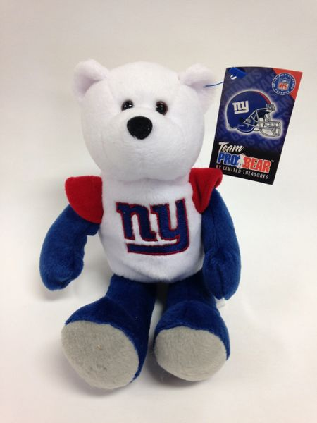 NFL Football *NEW YORK GIANTS* Pro Bear Mini Bean Bag by Limited Treasures