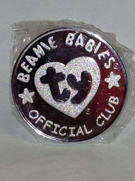*Ty Beanie Babies Official Club* 1999 Silver Medallion *LEGS* the FROG