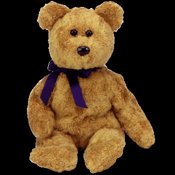 FUZZ the Bear Beanie Baby - Ty