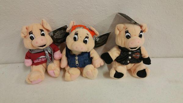 Harley Davidson *Harley Hogs* Bean Bag Plushies - Set of (3)