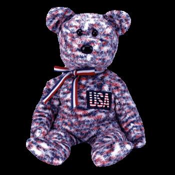 USA BEAR Beanie Baby - Ty