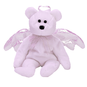 HALO the ANGEL Bear (White) Beanie Baby - Ty