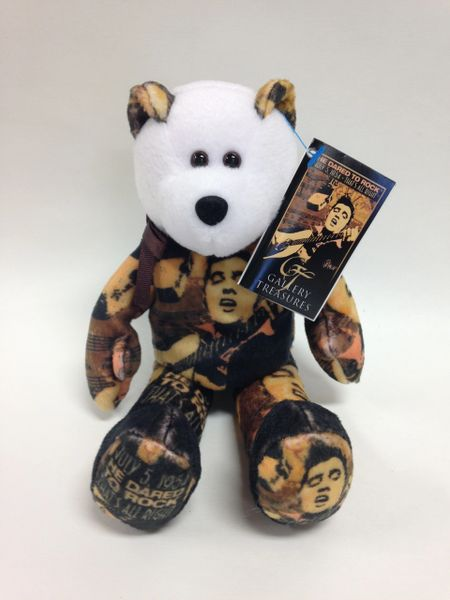 ELVIS PRESLEY Limited Edition *ELVIS - 50th ANNIVERSARY* Gallery Treasures Mini Beanie Bear