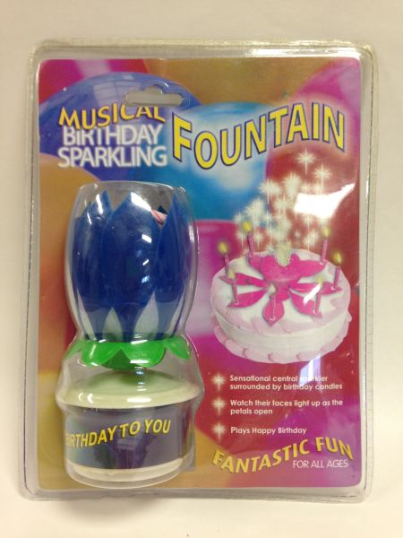 Musical BIRTHDAY Sparkling Fountain *Your choice of Blue, Yellow, Purple, Pink or Green*