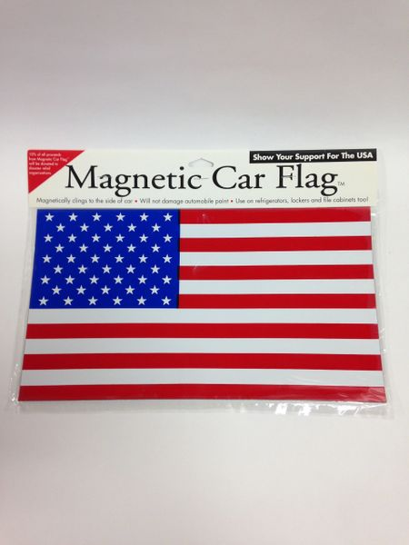 Magnetic Car AMERICAN FLAG *Magnetically clings to the side of car. Will not damage automobile paint.*