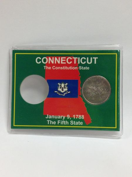State Quarter Protector *Includes one BU (Brilliant Uncirculated) Quarter* CONNECTICUT