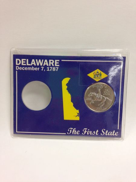 State Quarter Protector *Includes one BU (Brilliant Uncirculated) Quarter* DELAWARE