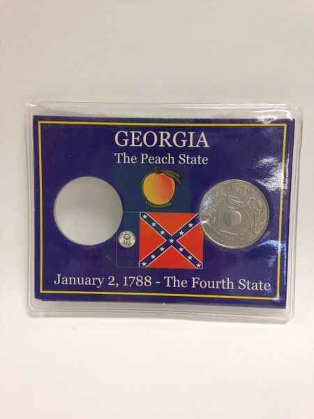 State Quarter Protector *Includes one BU (Brilliant Uncirculated) Quarter* GEORGIA