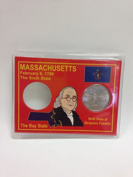State Quarter Protector *Includes one BU (Brilliant Uncirculated) Quarter* MASSACHUSETTS