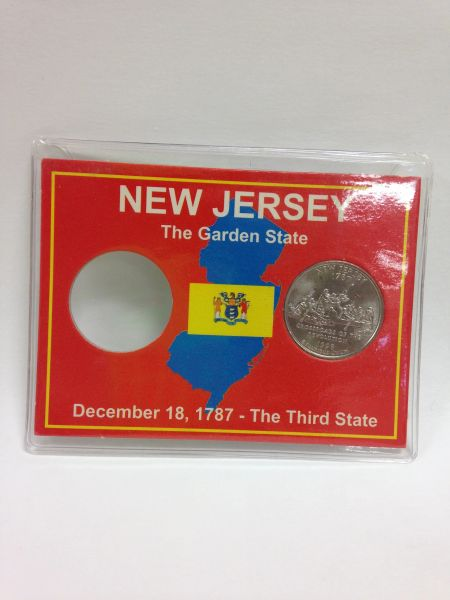 State Quarter Protector *Includes one BU (Brilliant Uncirculated) Quarter* NEW JERSEY