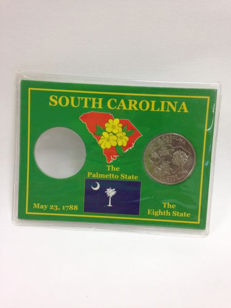 State Quarter Protector *Includes one BU (Brilliant Uncirculated) Quarter* SOUTH CAROLINA