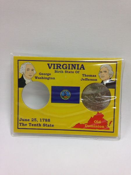 State Quarter Protector *Includes one BU (Brilliant Uncirculated) Quarter* VIRGINIA