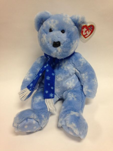 "Beanie Buddy *1999 HOLIDAY TEDDY* Bear 14"" - Ty"
