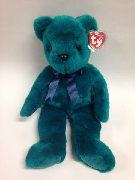 """Beanie Buddy *TEDDY THE TEAL BEAR* 14"""" - Ty"""