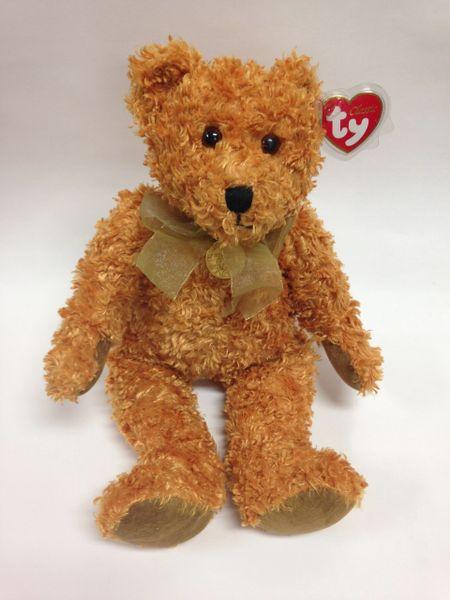 "Beanie Buddy *TEDDYBEARSARY* w/ Gold Medallion, Celebrating100 Years of Teddy Bears 14"" - Ty"