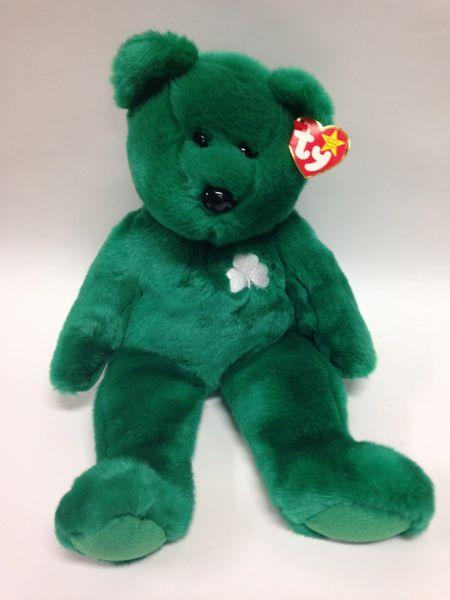 "Beanie Buddy *ERIN* The St. Patrick's Day Bear 14"" - Ty"