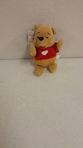 POOH BEAR with HEART Mini Bean Bag - Disney