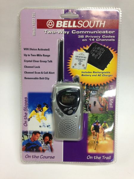 WALKIE TALKIE by BellSouth *Includes Rechargeable Battery & AC Adapter