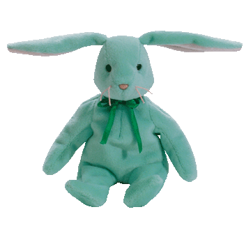 HIPPITY the BUNNY (Light Green) Beanie Baby - Ty