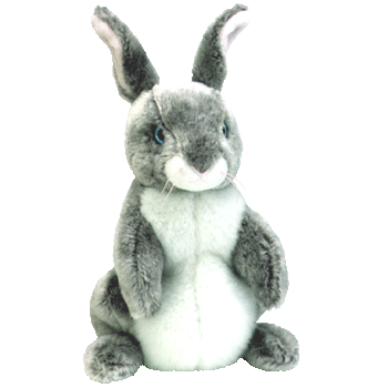 HOPPER the BUNNY (Grey & White) Beanie Baby - Ty