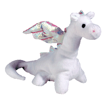 MAGIC the WHITE DRAGON Beanie Baby - Ty