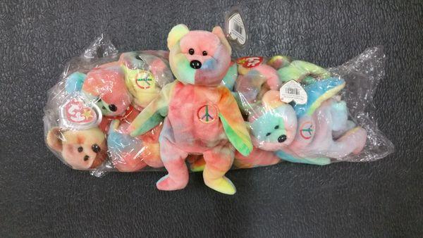 PEACE BEAR (Tie-Dye) Beanie Baby - Ty