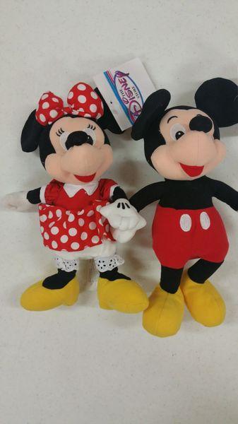 MICKEY & MINNIE MOUSE SET Mini Bean Bag - Disney
