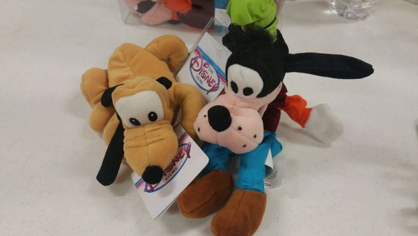 PLUTO & GOOFY (2 pc. set) Mini Bean Bag - Disney