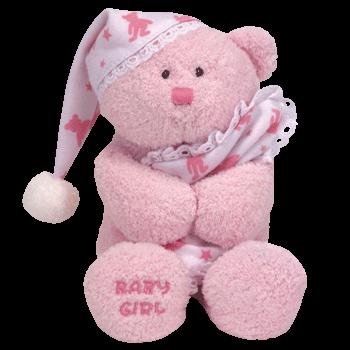 BABY GIRL Bear Beanie Baby - Ty