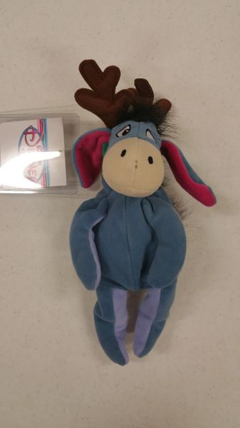 EEYORE REINDEER CHRISTMAS Mini Bean Bag - Disney
