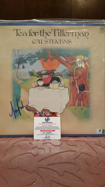 Cat Stevens **TEA FOR THE TILLERMAN** Signed & Certified LP Cover with vinyl record - GV704899